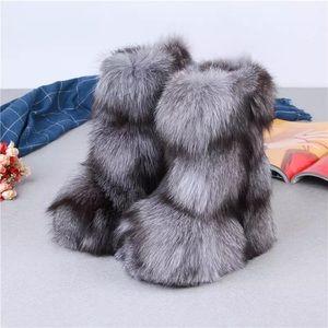 Shoes - Fox Fur Winter Boots
